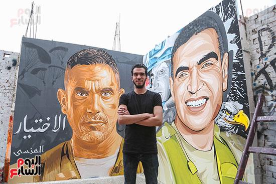 جرافيتي للشهيد أحمد المنسي (2)