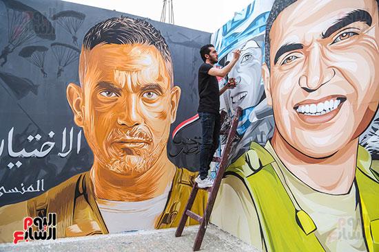 جرافيتي للشهيد أحمد المنسي (10)