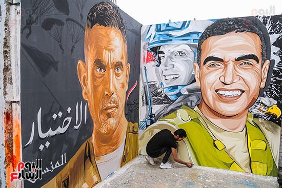 جرافيتي للشهيد أحمد المنسي (5)