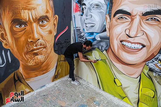جرافيتي للشهيد أحمد المنسي (9)