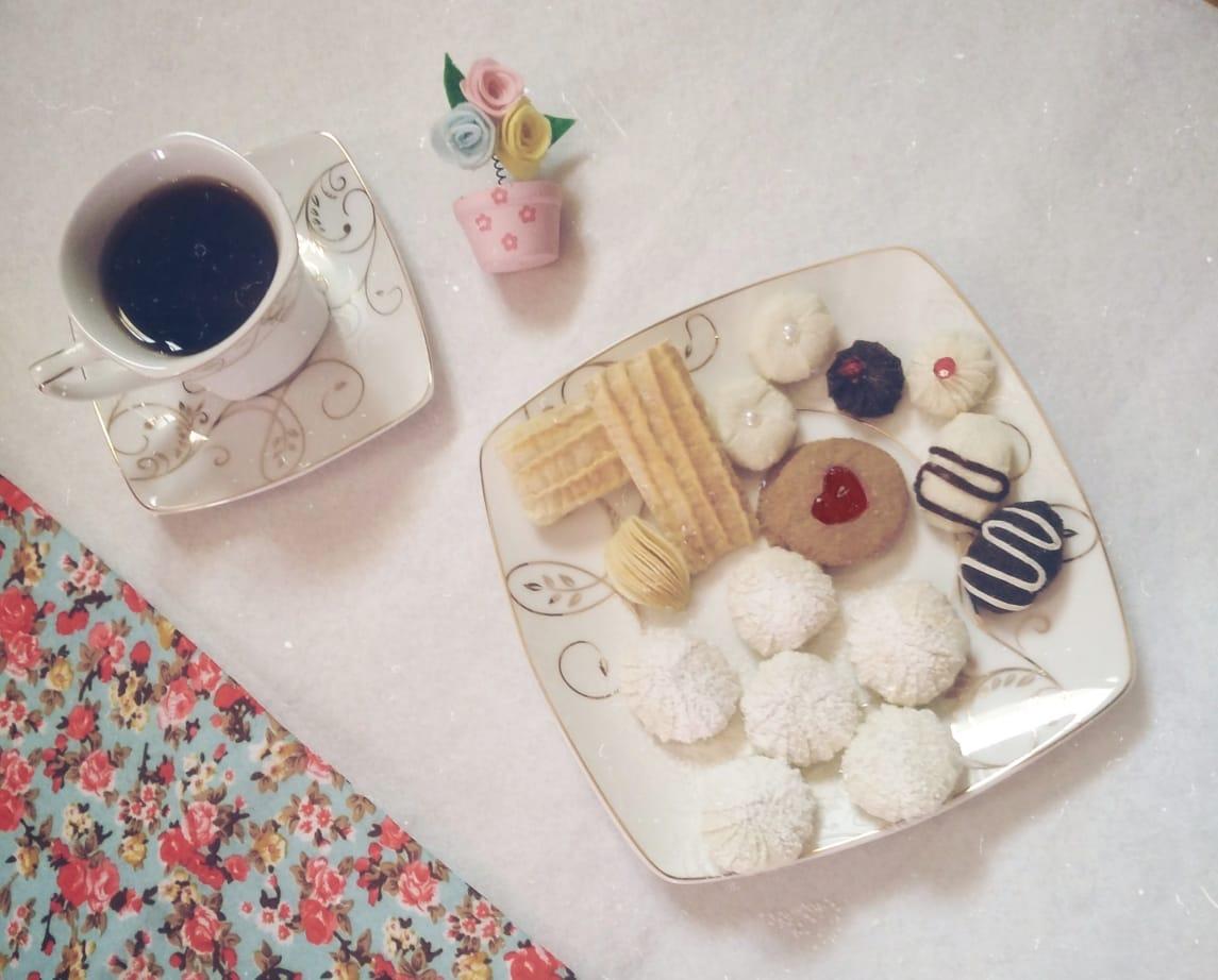 تصميم إسراء لحلويات العيد بالقماش