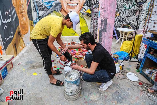 جرافيتي للشهيد أحمد المنسي (4)