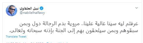 الفنان نبيل الحلفاوى عبر تويتر