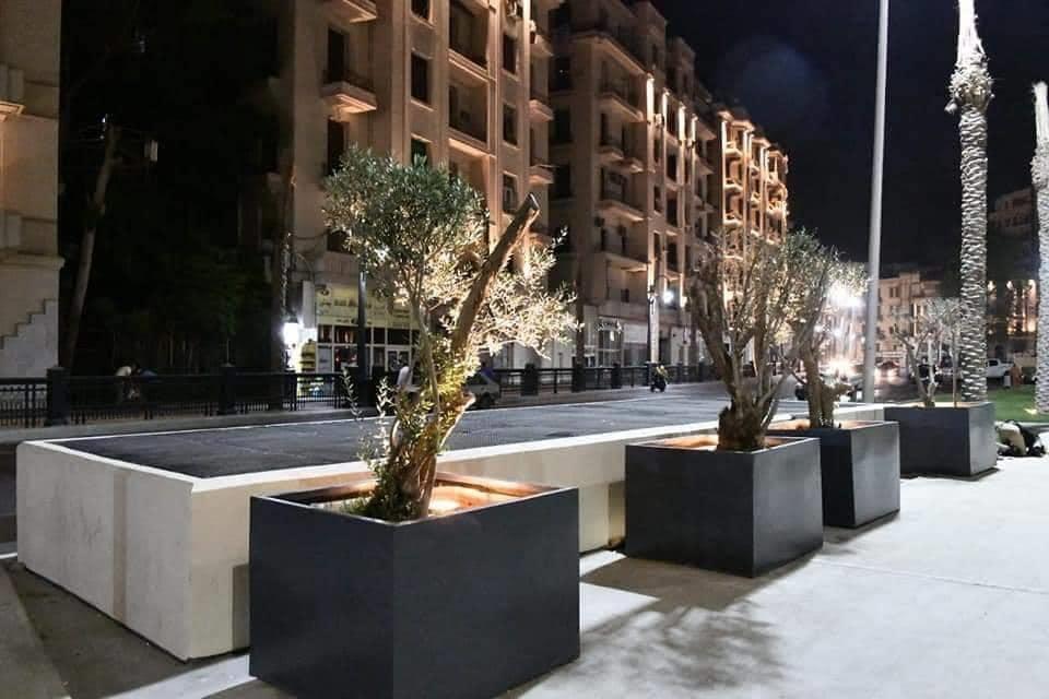 التجارب الأولية لإضاءة ميدان التحرير (9)