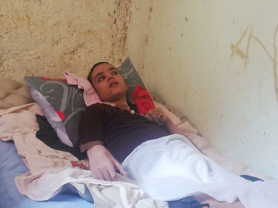 حالة الطفل أبو زيد طاهر مصاب بشلل دماغى بالوادى الجديد (8)