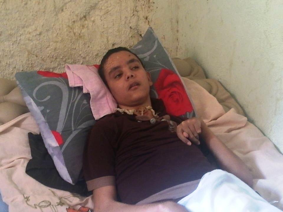 حالة الطفل أبو زيد طاهر مصاب بشلل دماغى بالوادى الجديد (9)