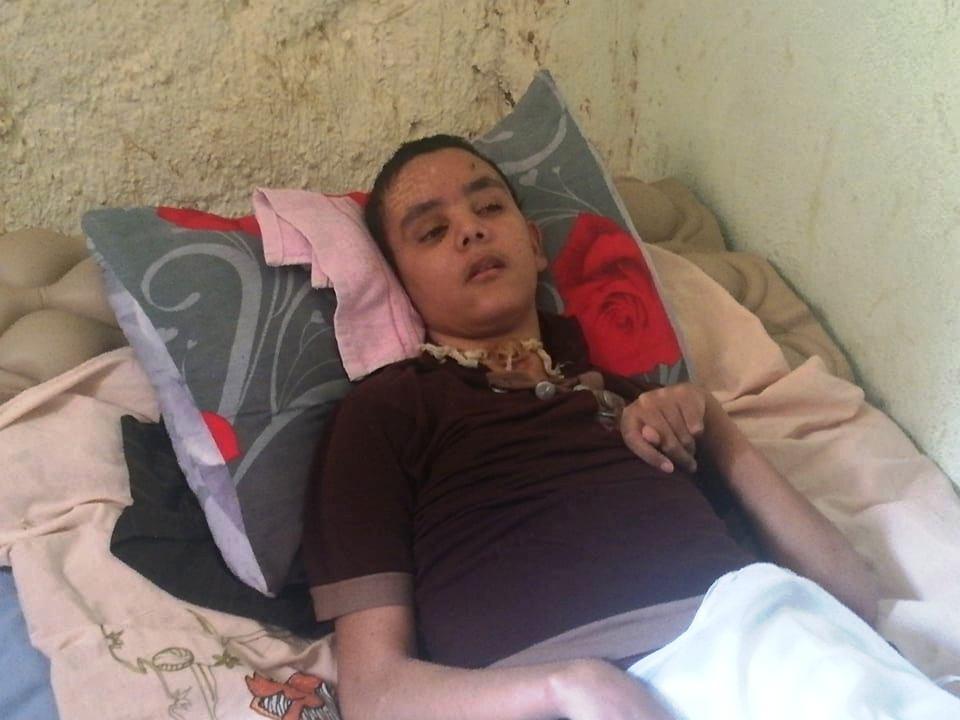 حالة الطفل أبو زيد طاهر مصاب بشلل دماغى بالوادى الجديد (14)