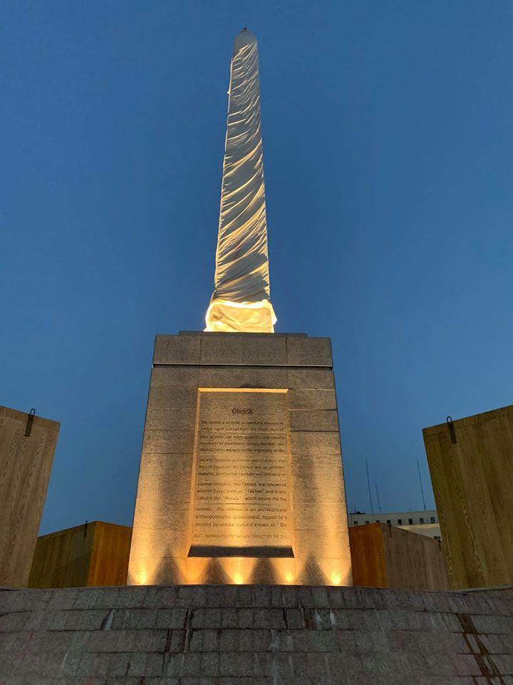 التجارب الأولية لإضاءة ميدان التحرير (10)