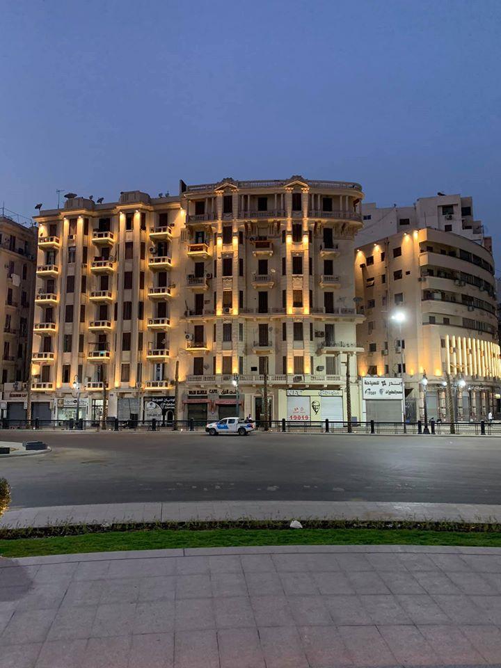 التجارب الأولية لإضاءة ميدان التحرير (8)