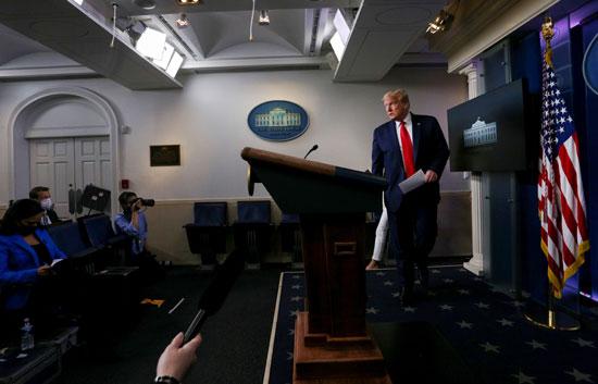 ترامب خلال المؤتمر
