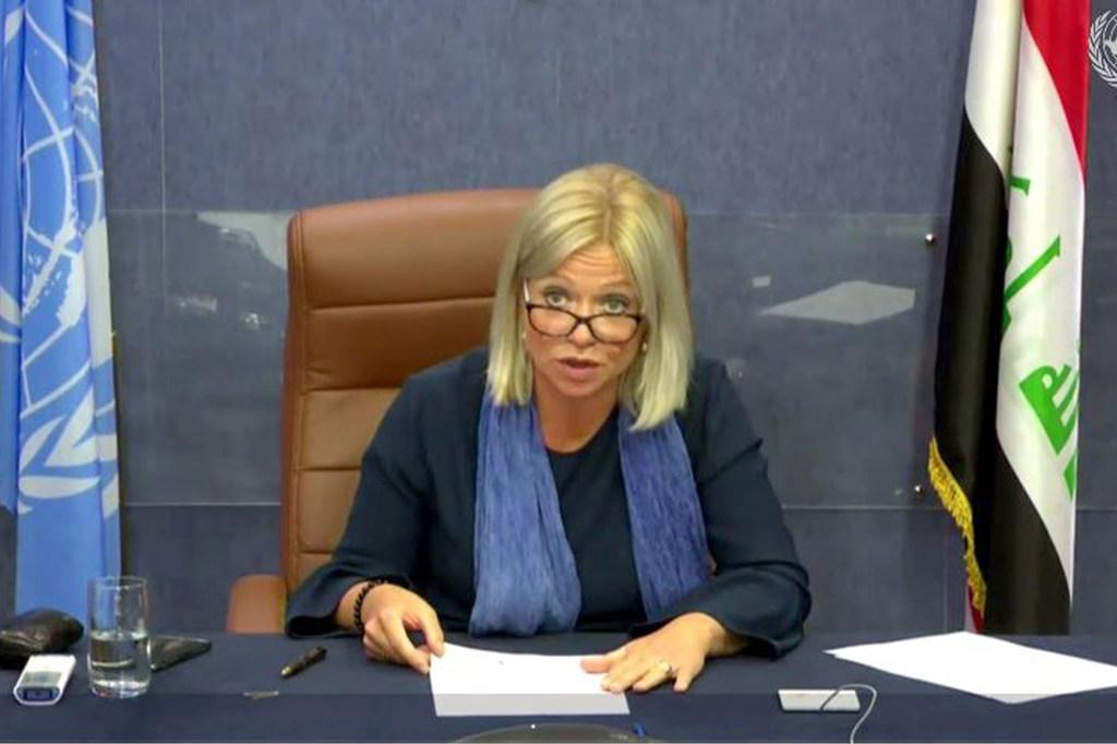 جينين بلاسخارت ممثله الامين العام فى العراق