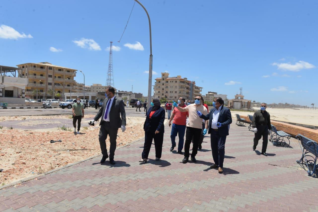 جولة نائب محافظ الدقهلية بمدينة المنصورة وجمصة (9)