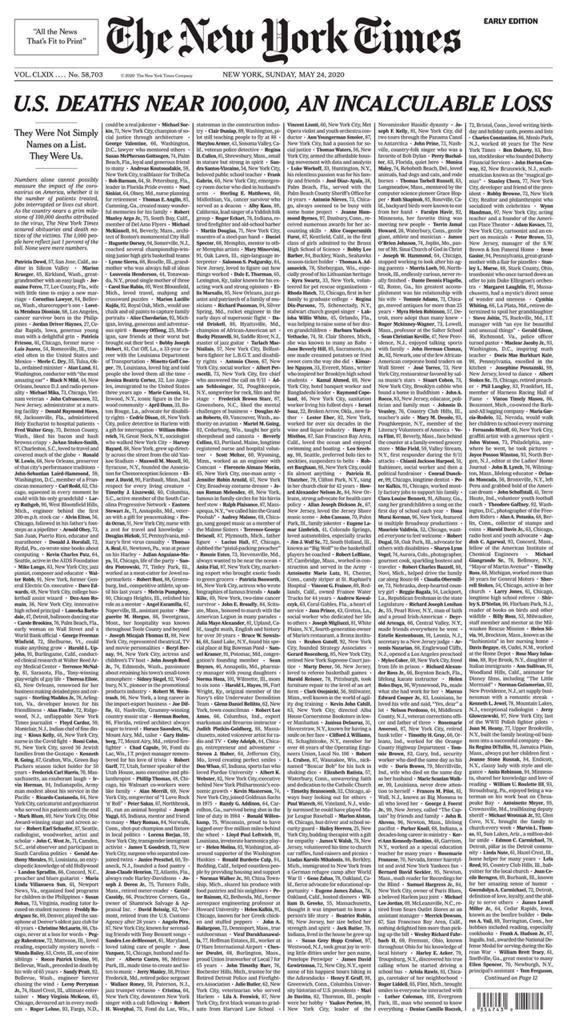 صفحة نيويوريك تايمز