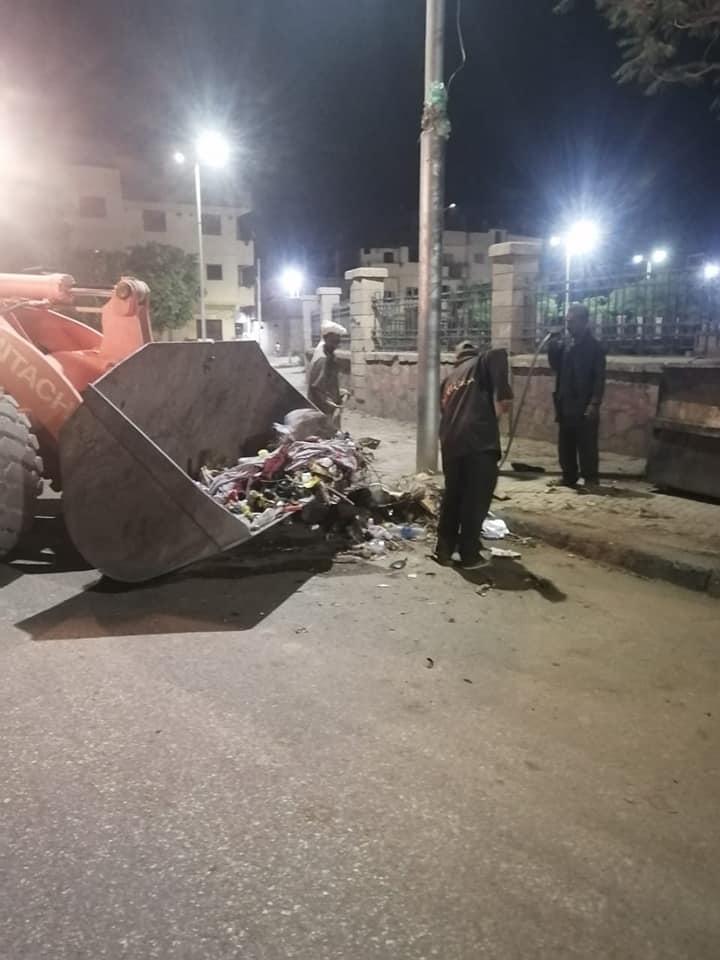 حملة نظافة بحي شمال مدينة الأقصر