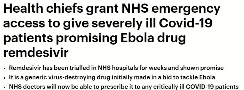 دواء الإيبولا ريمديسفير