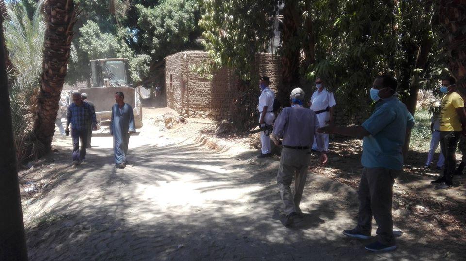 إزالة 113 حالة تعدى بأملاك الدولة والأراضي الزراعية خلال العيد