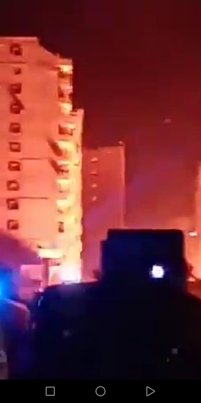 حريق نتيجة لانفجار ماسورة غاز (1)
