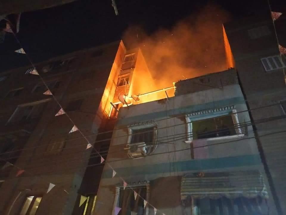 الحماية المدنية تسيطر على حريق منزل بقليوب (5)