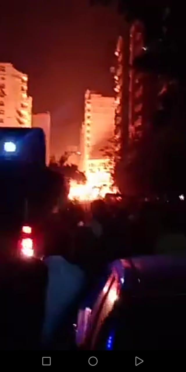 حريق نتيجة لانفجار ماسورة غاز (2)