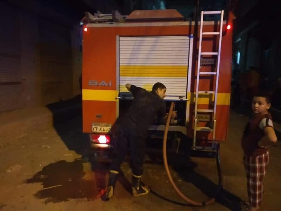 الحماية المدنية تسيطر على حريق منزل بقليوب (2)