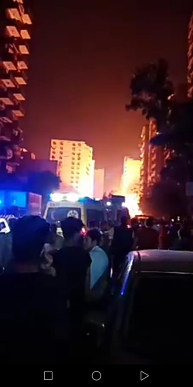 حريق نتيجة لانفجار ماسورة غاز (3)