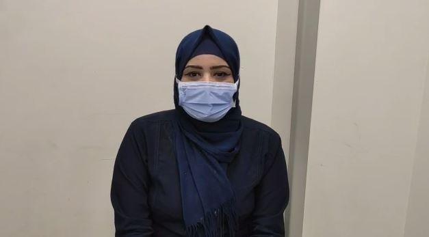 أسماء محمد أخصائية تمريض بمستشفى النجيلة