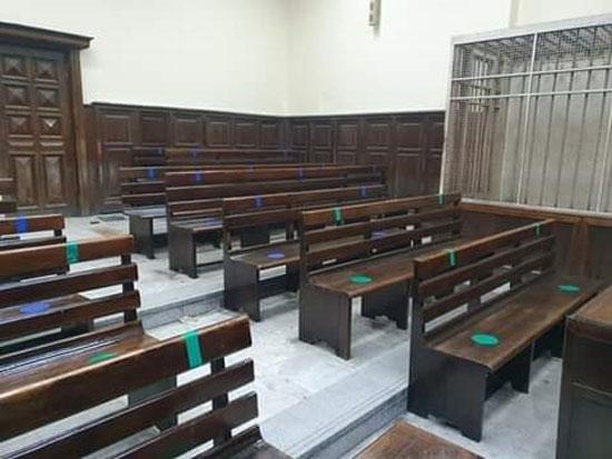 الانتهاء من الإجراءات الوقائية بمحاكم الإسكندرية (1)