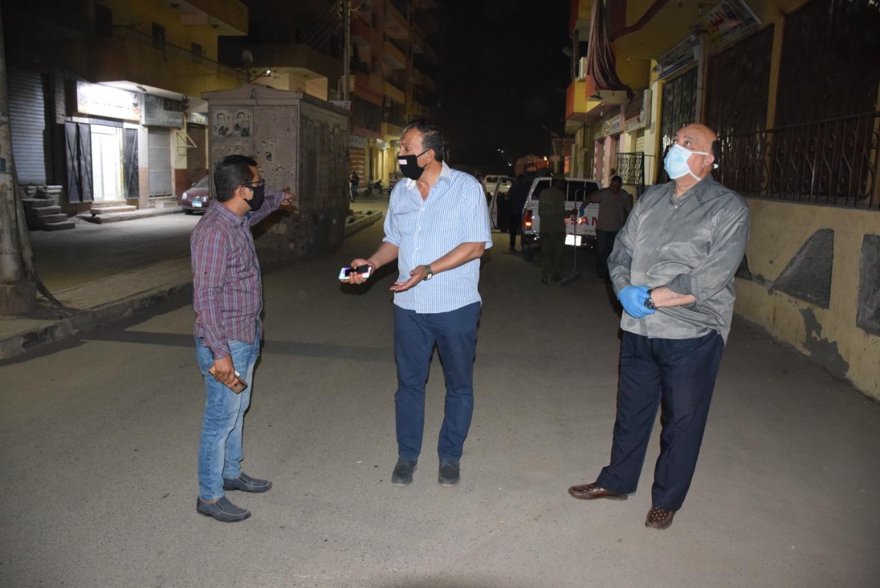جولة قيادات المحافظة بشوارع مدينة الأقصر