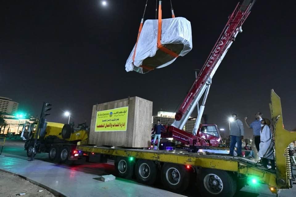 شاهد.. أحدث صور لعملية تطوير ميدان التحرير ونقل الكباش الأربعة ...