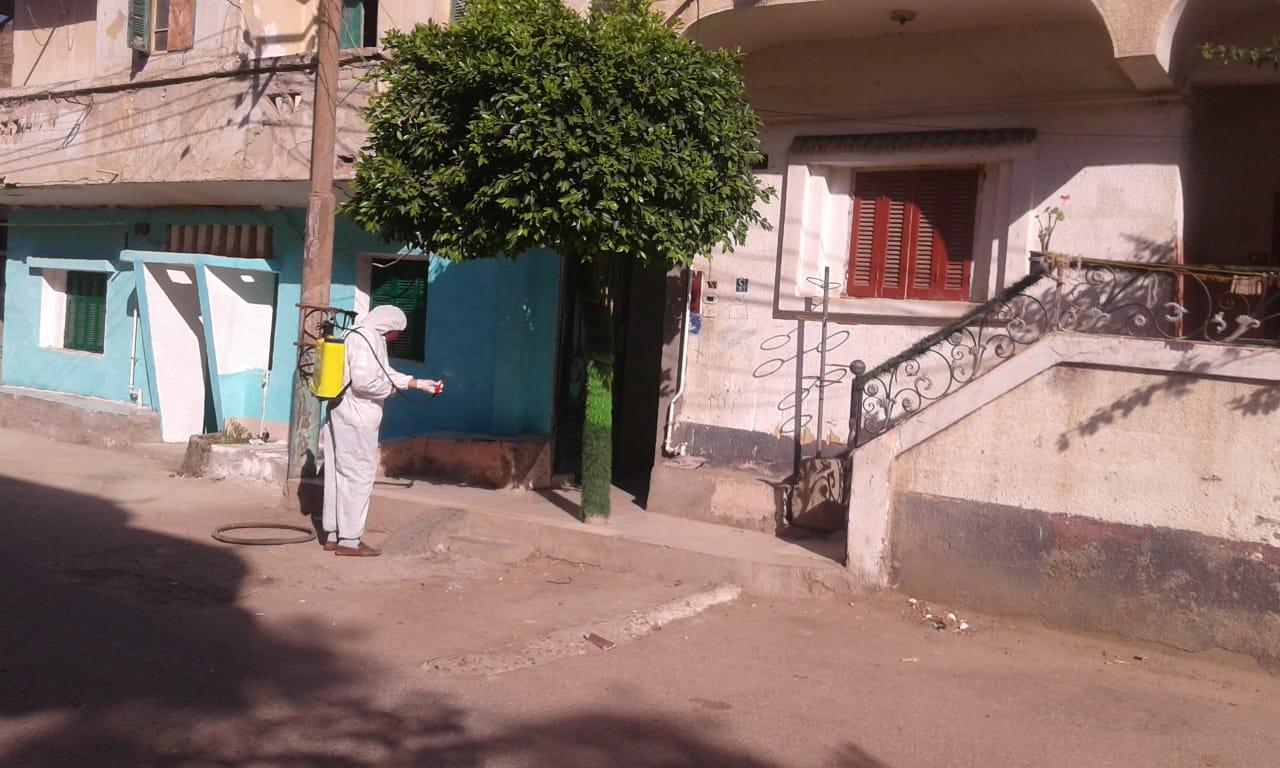 رش وتطهير المنشأت والمنازل والشوارع بالبحيرة (8)