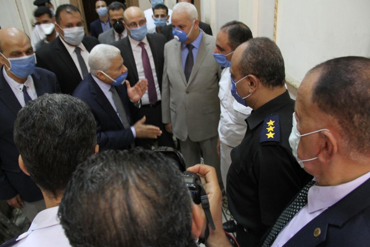 رئيس محكمة النقض يتفقد سير العمل بالمحكمة (10)