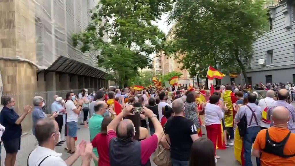 احتجاجات ضد رئيس حكومة اسبانيا ووزير الداخلية
