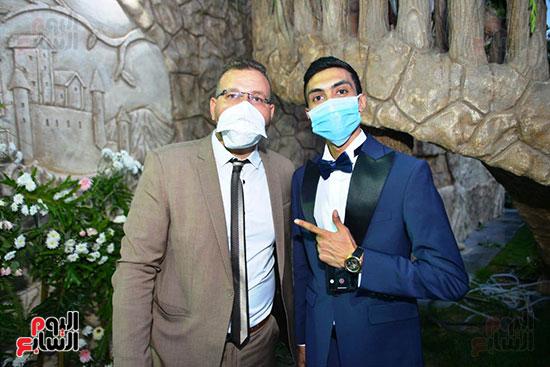 محمد رمضان يحتفل بحفل زفاف شقيقته (23)