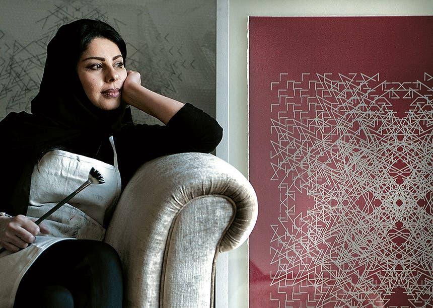 الفنانة التشكيلية السعودية لولوة الحمود