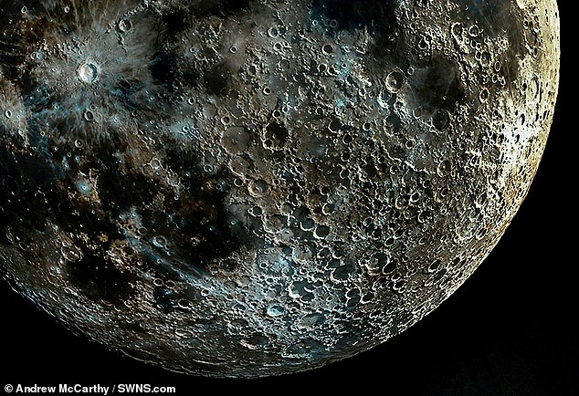 Moon digging close-up