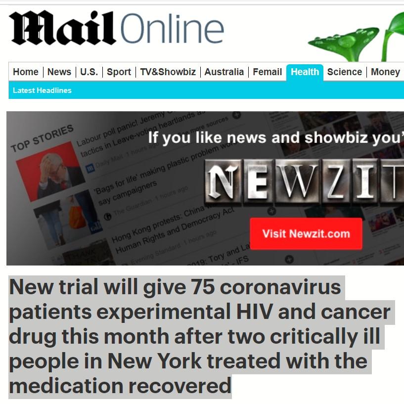 تجربة على 75 مريض أمريكى لأدوية نقص المناعة