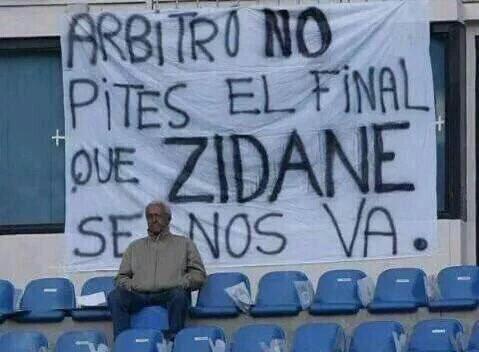 لافتة تدعم زيدان