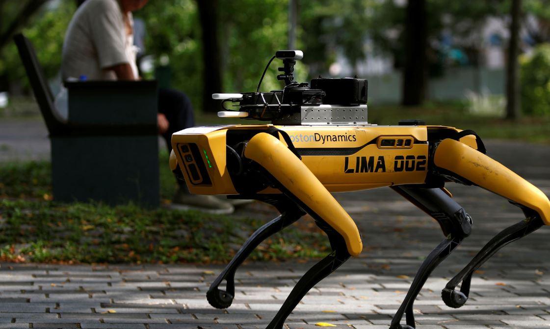 الكلب الروبوتى فى  سنغافورة  (1)