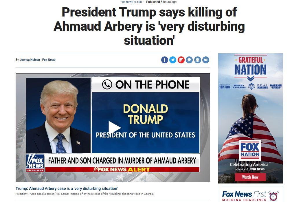 الرئيس الامريكى دونالد ترامب عبر شبكة فوكس نيوز