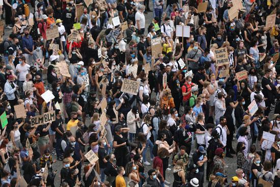 المتظاهرين خلال الاحتجاج