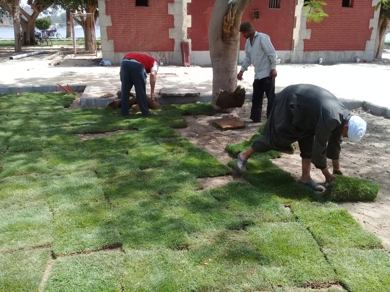 العاملين بوزارة الري خلال أعمال التطوير