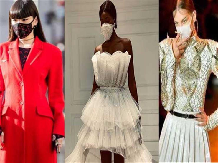 ظهور الكمامات في أسبوع الموضة