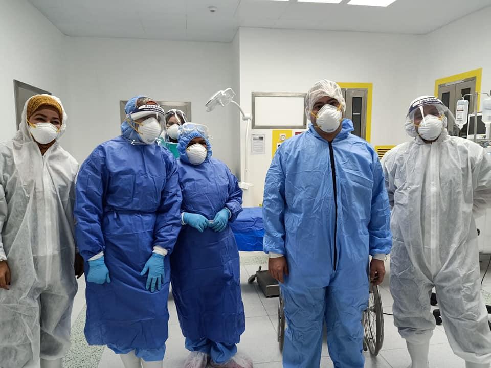 جانب من عملية الولادة الثامنة بمستشفى إسنا للحجر الصحى