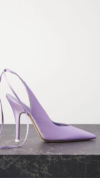 حذاء ساتان