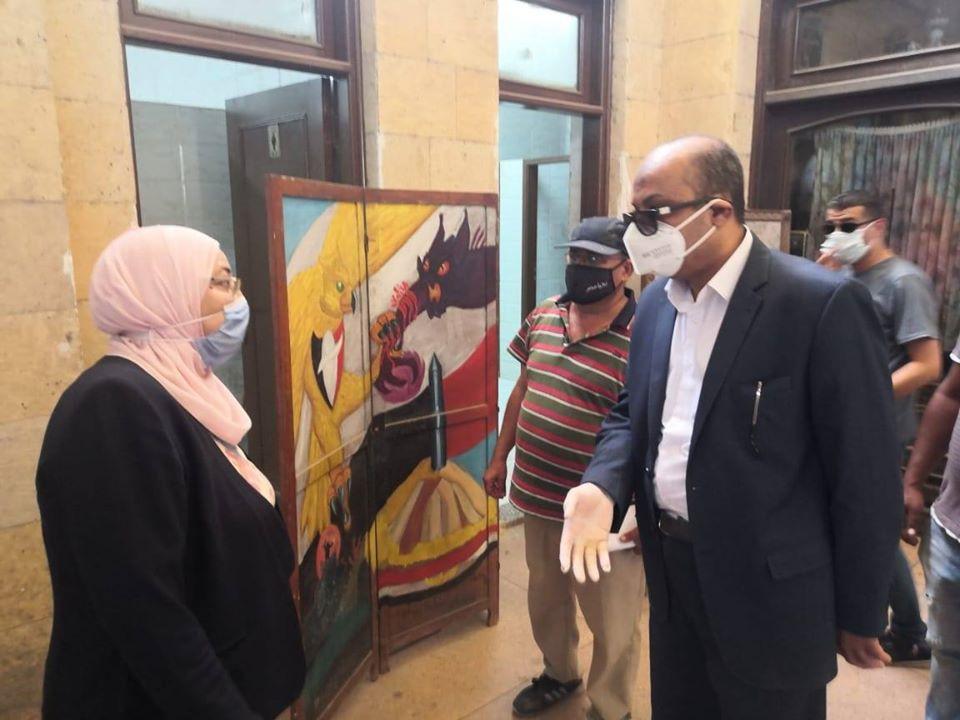 نائب محافظ القاهرة تتفقد أعمال تطوير مسار العائلة المقدسة (1)