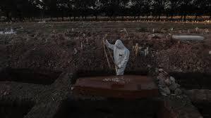 دفن موتى كورونا فى البرازيل
