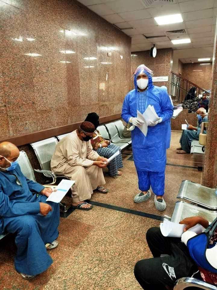 تعافى المصابين من كورونا بمستشفى الاقصر العام