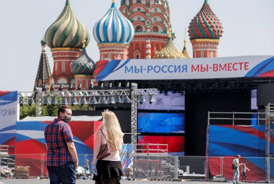 موسكو تتزين