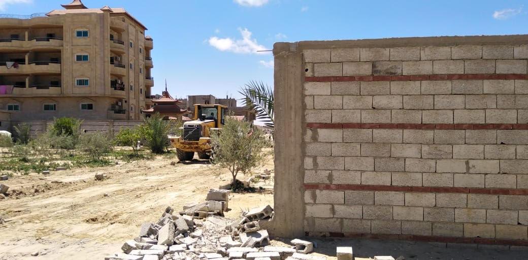 حملة إزالة التعديات على أراضى املاك الدولة بشمال سيناء (2)