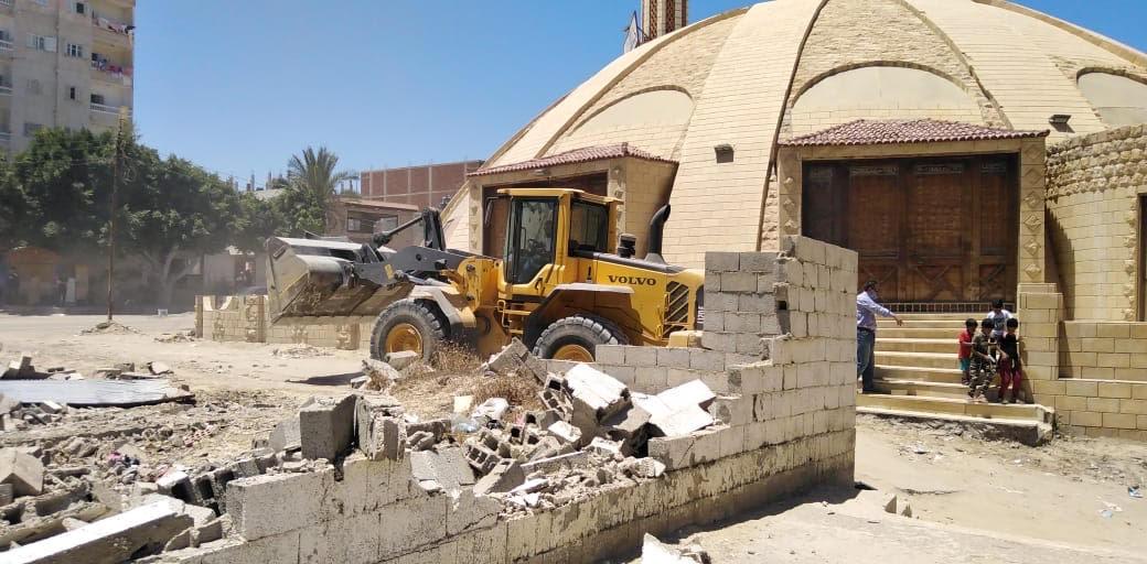 حملة إزالة التعديات على أراضى املاك الدولة بشمال سيناء (4)